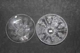 Two Bohemian Cut Crystal Vases,