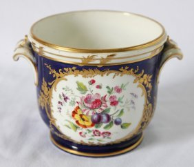 19th Century English Porcelain Twin Handled Pot