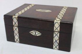 Late Georgian Mahogany Sewing Box,
