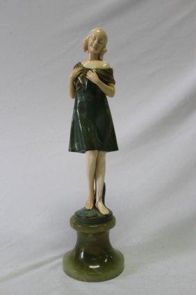 J.ulrich Austrian Bronze And Ivory Sculpture,
