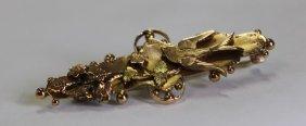Edwardian 9ct Gold Swallow Brooch ,