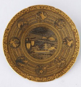 Delightful Japanese Komai Display Plate,