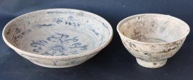 Chinese Pottery Bowl And Dish,