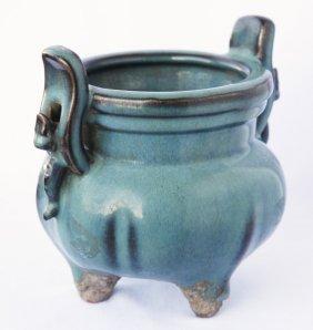 Chinese Jun Glaze Censer,
