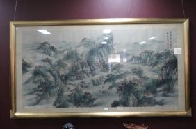 Large Framed Chinese Painting,