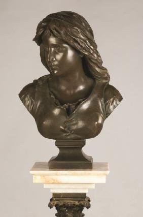 Eugene-Antoine Aizelin (French, 1821-1902) Bronze Bust