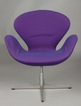 11: 19th c. Swan Arm Rocking Chair : Lot 11