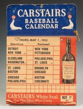 Vintage Carstairs Baseball Calendar