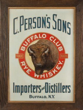 Vintage Tin Litho Advertising Sign, C. Person's Sons