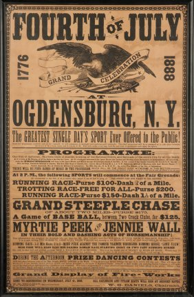 Fourth Of July, 1888, Ogdensburg, Ny, Broadside