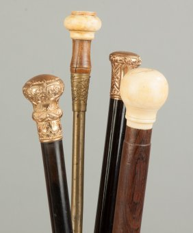 Group Of Four Vintage Canes