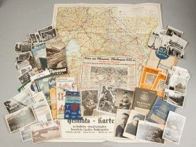 Group Of Wwii German Photos & Maps