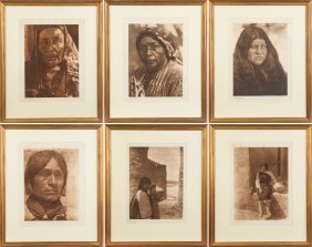 Group Of Six Edward Sheriff Curtis (american,