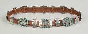 Navajo Silver & Turquoise Belt