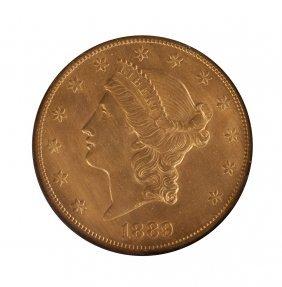 1889 Cc Twenty Dollar Gold Double Eagle