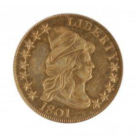 1801 Ten Dollar Draped Bust Gold Coin
