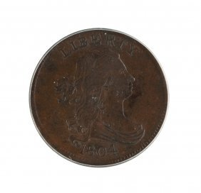1804 Cross 4 With Stems Half Cent