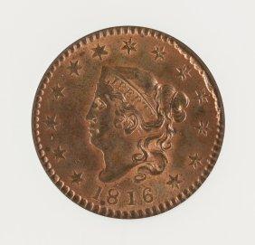 1816 Coronet Head One Cent