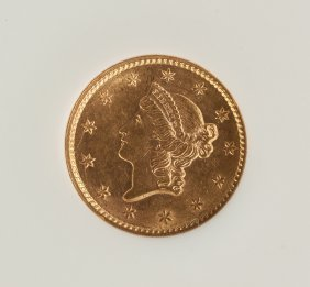 1853 Gold One Dollar