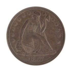 1857 Seated Liberty One Dollar