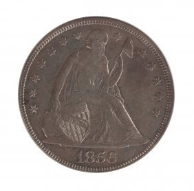 1856 Seated Liberty One Dollar
