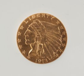 1913 Indian Head Two Dollar Fifty Cents