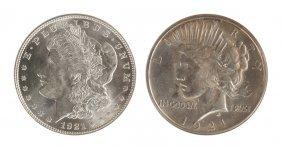 Morgan & Peace Morgan One Dollar Coins