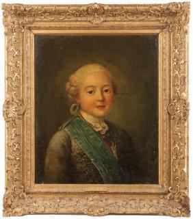 """Attr. To Carle Van Loo (french, 1705-1765) """"le Comte De"""
