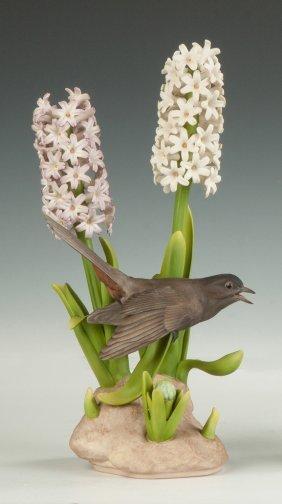 "Boehm Porcelain ""catbird (with Hyacinth)"""