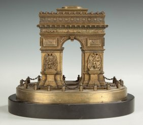 Grand Tour Bronze Model Of The Arc De Triomphe