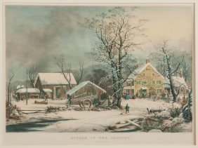 "Currier & Ives ""winter In The Country"""