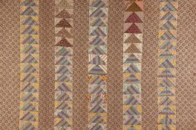 Pieced Quilt, Flying Geese