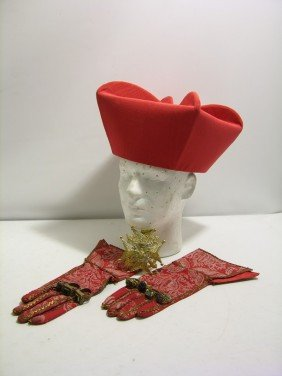 Three Musketeers Cardinal Richeliue Hat And Gloves