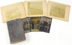 SMALL LOT OF 19TH CENTURY PHOTOS & BIBLE
