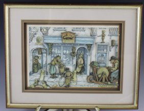 FRAMED DIORAMA AFTER ANTON PIECK
