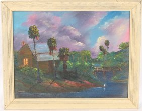 Chico Wheeler Florida Highwaymen Nighttime Scene