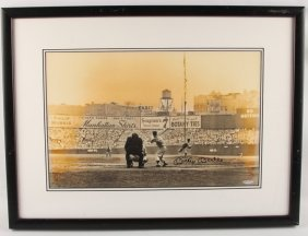 Mickey Mantle Panorama Signed Photo Framed