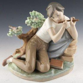 "Lladro ""student Flute Player"""