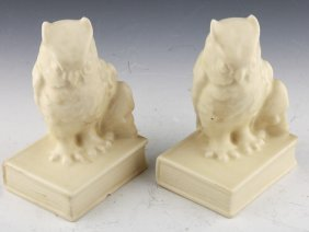 Rookwood Pottery Owl Bookends 1936