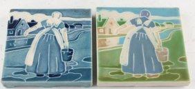 2 Rookwood Pottery Figural Trivets 1919 1930
