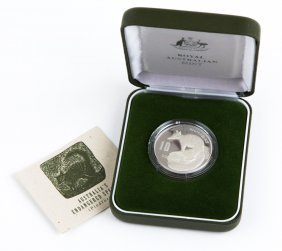 1995 Australia Numbat $10 Sterling Silver Coin