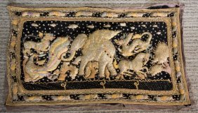 Large Finely Embroidered Burmese Or Thai Kalaga