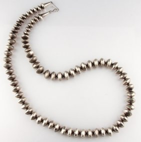 Navajo Sterling Silver Bench Beach Necklace