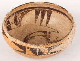 Mid 20th C Hopi Polychrome Bowl
