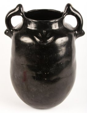 Early 20th C. Blackware Santa Clara Jar