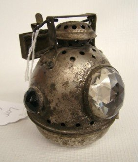 """C. 1898 """"Fire Ball"""" Safety Bicycle Lamp"""
