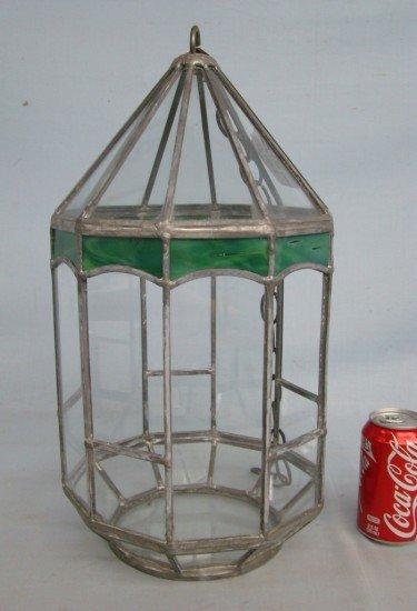 109a Leaded Glass Terrarium