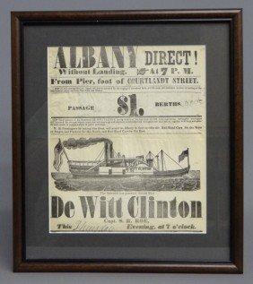 Albany Steamboat Broadside