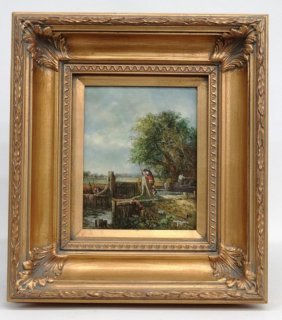 Painting Canal Scene