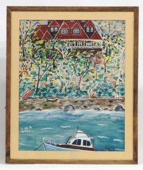 Jean Marie Aubert, Canadian Harbor Scene
